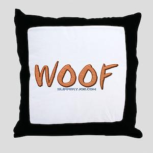 Woof_1 Throw Pillow