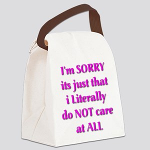 I'm Sorry Canvas Lunch Bag