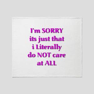 I'm Sorry Throw Blanket