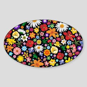 Spring Flowers Pattern Sticker