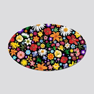 Spring Flowers Pattern Wall Decal