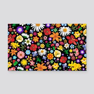 Spring Flowers Pattern Rectangle Car Magnet