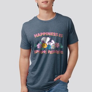 Snoopy - Happiness is Sprin Mens Tri-blend T-Shirt