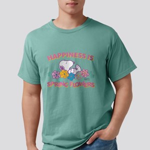 Snoopy - Happiness is Sp Mens Comfort Colors Shirt