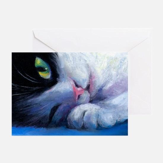 Tuxedo Cat 2 Greeting Cards (Pk of 10)