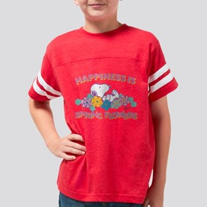 Snoopy - Happiness is Spring  Youth Football Shirt