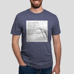 TINY HUMANS Mens Tri-blend T-Shirt