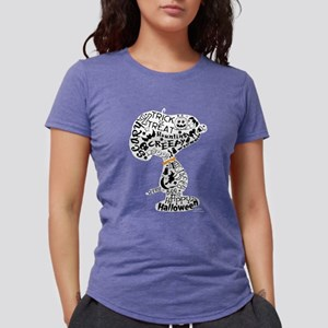 SnoopyyHalloween-dark Womens Tri-blend T-Shirt