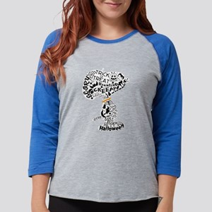 SnoopyyHalloween-dark Womens Baseball Tee
