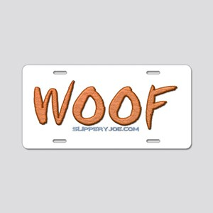 Woof_5 Aluminum License Plate