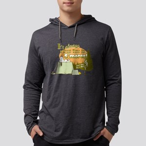 Snoopy Smores Mens Hooded Shirt