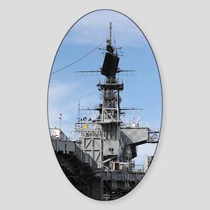 Navy Ship Sticker (Oval)