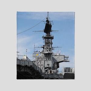 Navy Ship Throw Blanket