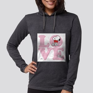 LOVE - Snoopy Womens Hooded Shirt
