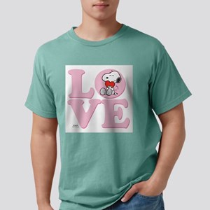 LOVE - Snoopy Mens Comfort Colors Shirt