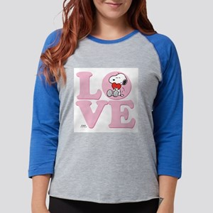 LOVE - Snoopy Womens Baseball Tee