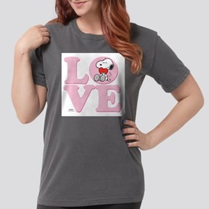 LOVE - Snoopy Womens Comfort Colors Shirt