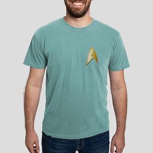 STAR TREK Logo gold Mens Comfort Colors Shirt