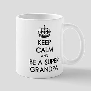 Keep Calm Super Grandpa Mug
