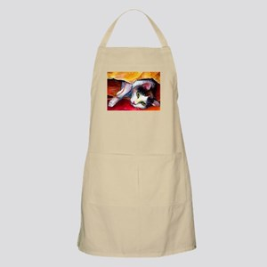 Tabby Cat in a bag BBQ Apron