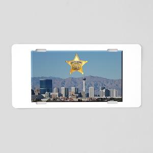 Clark County Sheriff Vegas Skyline Aluminum Licens
