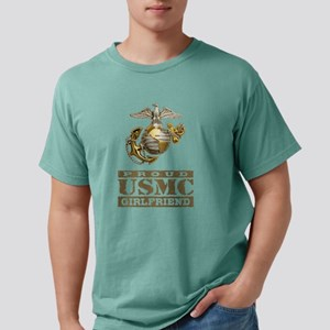 Proud USMC Girlfriend Mens Comfort Colors Shirt