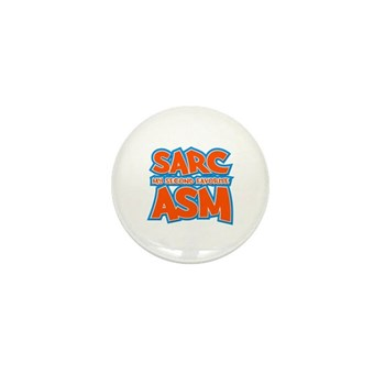 Sarc, My Second Favorite Asm Mini Button (10 pack)