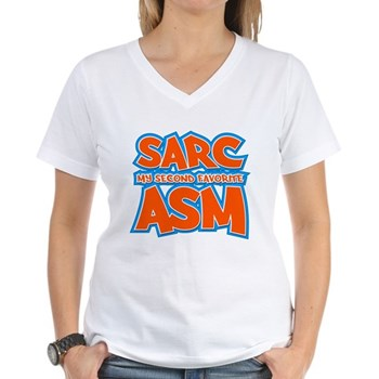 Sarc, My Second Favorite Asm Women's V-Neck T-Shir