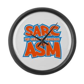 Sarc, My Second Favorite Asm Large Wall Clock
