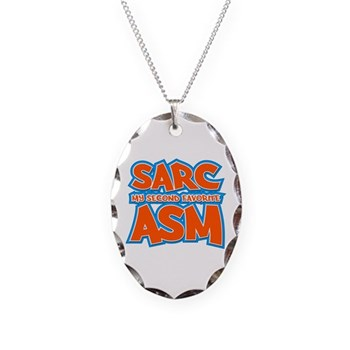 Sarc, My Second Favorite Asm Necklace Oval Charm