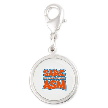 Sarc, My Second Favorite Asm Silver Round Charm