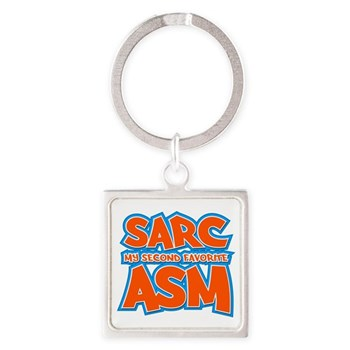 Sarc, My Second Favorite Asm Square Keychain