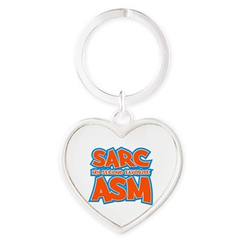 Sarc, My Second Favorite Asm Heart Keychain