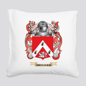 Meighan Coat of Arms - Family Crest Square Canvas