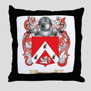 Meighan Coat of Arms - Family Crest Throw Pillow