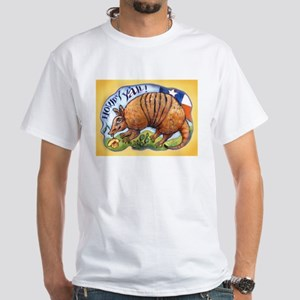 Armadillo Texas Howdy White T-Shirt