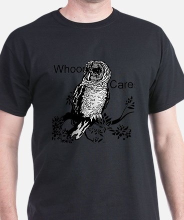 Whooo Cares Owl T-Shirt