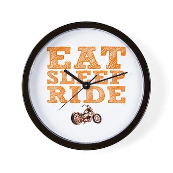 Eat Sleep Ride Wall Clock