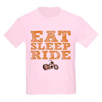 Eat Sleep Ride Kids Light T-Shirt