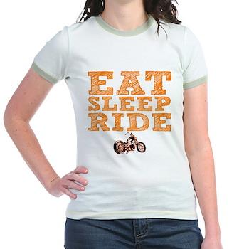 Eat Sleep Ride Jr. Ringer T-Shirt