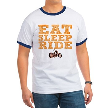 Eat Sleep Ride Ringer T-Shirt