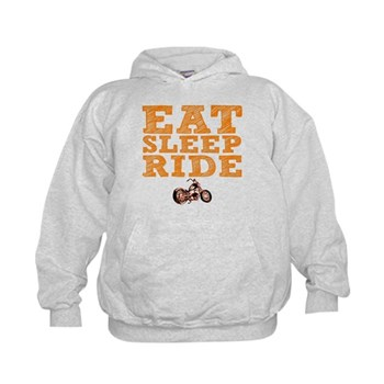 Eat Sleep Ride Kid's Hoodie