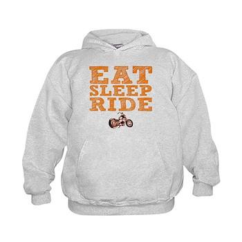 Eat Sleep Ride Kid's Hoodie