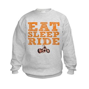 Eat Sleep Ride Kids Sweatshirt