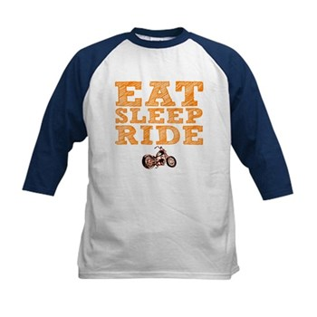 Eat Sleep Ride Kids Baseball Jersey