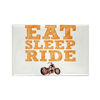 Eat Sleep Ride Rectangle Magnet (100 pack)
