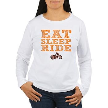 Eat Sleep Ride Women's Long Sleeve T-Shirt