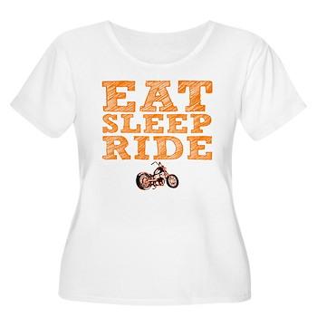 Eat Sleep Ride Women's Plus Size Scoop Neck T-Shir