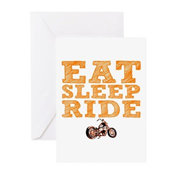 Eat Sleep Ride Greeting Cards (20 pack)