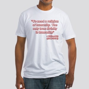 Freethought Quote Fitted T-Shirt
